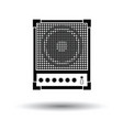 audio monitor icon vector image vector image