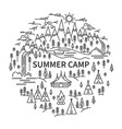 banner for camping vector image vector image