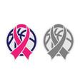 basketball and ribbon vector image vector image