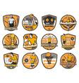 basketball tournament championship club emblems vector image vector image
