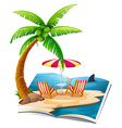 Beach book vector image vector image