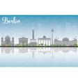 berlin skyline with grey building vector image vector image
