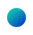 blue world globe icon with lines isolated on vector image