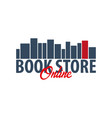 book store online logo education and book emblem vector image vector image