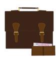 Briefcase and purse vector image vector image