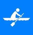 canoe sport figure symbol graphic vector image