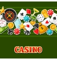 Casino gambling seamless pattern with game sticker vector image