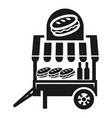 cheese burger cart icon simple style vector image vector image