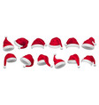 christmas hat santa claus xmas decorative vector image vector image