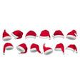 christmas hat santa claus xmas decorative vector image