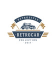 Classic car logo template design element