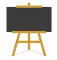 clean blackboard on wooden frame vector image