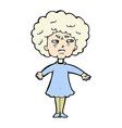 comic cartoon bitter old woman vector image vector image