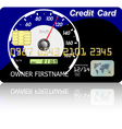 Credit card speedometer vector image