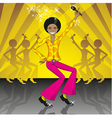 Dancing and singing boy vector | Price: 1 Credit (USD $1)