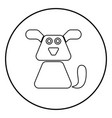 dog icon black color simple image vector image vector image
