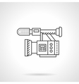 Film camera flat line design icon vector image