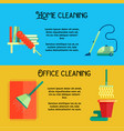 flat cleaning service banners vector image vector image