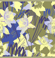 floral seamless pattern with hand drawn spring vector image