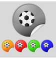Football ball sign icon Soccer Sport symbol Set vector image vector image