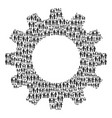 gear wheel mosaic of family child icons vector image vector image