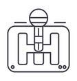 gearstick line icon sign on vector image