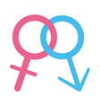 gender female and male sexuality sign flat style vector image