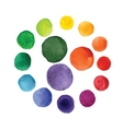 Handmade watercolor texture colorful paint drops vector image vector image