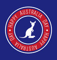 happy australia day label vector image