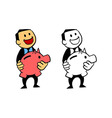 Happy Businessman Hold Piggy Bank vector image vector image