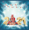holiday christmas background abstract tree made vector image vector image