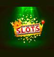 king slots 777 banner casino on green vector image vector image