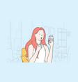 lip makeup beauty fashion concept vector image