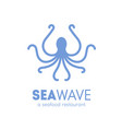 logotype for seafood restaurant with octopus vector image