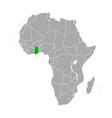 map ghana in africa vector image vector image