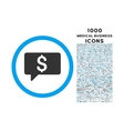 Money Message Rounded Symbol With 1000 Icons vector image