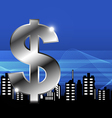 money with city vector image