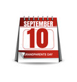 national grandparents day 2017 desktop calendar vector image vector image