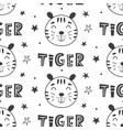 nursery tigers kids seamless pattern background vector image vector image