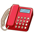 old fashioned telephone on white background vector image