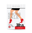 poster of woman shoes sale vector image vector image