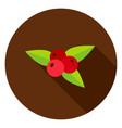 rowanberry circle icon vector image vector image