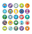 science and technology colored icons 3 vector image vector image