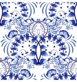 Seamless pattern based on porcelain painting gzhel vector image vector image