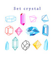 set crystals vector image