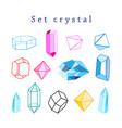 set crystals vector image vector image