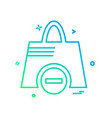 shopping bag icon design vector image vector image