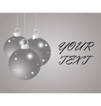 Silver Christmas balls on a silver background vector image vector image