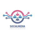 social media network concept logo design data hr vector image vector image