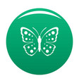 spring butterfly icon green vector image